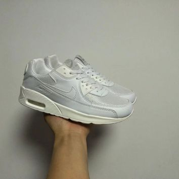 """""""Nike Air Max 90"""" Unisex Casual Fashion Solid Color Air Cushion Sneakers Couple Running Shoes"""
