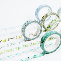1 x Forest song series 9mm X 7 m Kawaii washi tape children like DIY Diary decoration masking tape stationery scrapbooking tools