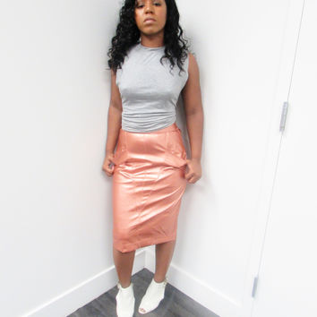 SERVE IT UP LEATHER SKIRT