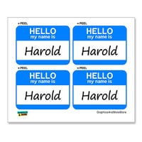 Harold Hello My Name Is - Sheet of 4 Stickers