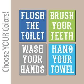 Bathroom Rules Wall Art best bathroom rules for kids products on wanelo