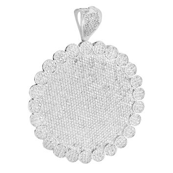 Round White Gold Pendant Lab Diamond