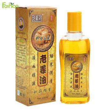 PEAPUNT 230ML Pure Ginger Oil Natural Herbal Massage Essential Oil for SPA Full Body Relaxation Scrape Massage Therapy