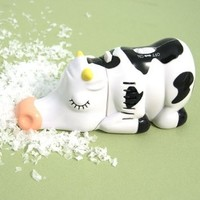 Miniature Cow Tabletop Vacuum: Home & Kitchen