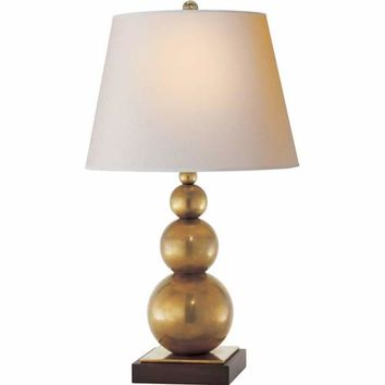 Visual Comfort and Company SL3805HAB-NP Antique Brass Stacked Three Ball Lamp