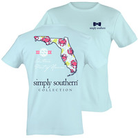 Simply Southern Florida Preppy State Pattern Bright T Shirt