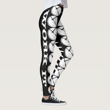 BLACK AND WHITE LOGO WORKING IT LEGGINGS HAVIC ACD