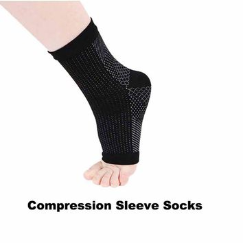 Outdoor Sport Anti Fatigue Angel Circulation Compression Foot Sleeve Socks