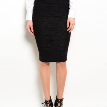 Women Stretched Pencil Skirt