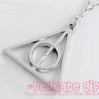 Jewelry Harry Potter Necklace Deathly Hallows Necklace Harry Potter Necklace,Closure Design lobster clasp GIFT011