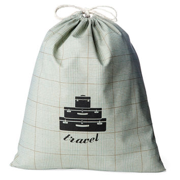 French Laundry Home, Tweed Travel Laundry Bag, Spa, Laundry Bags