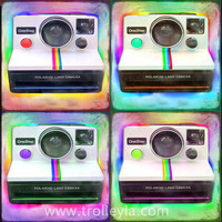 Vintage Camera Art, Polaroid Art Print, Pop Art, Warhol Look, Colorful, Retro
