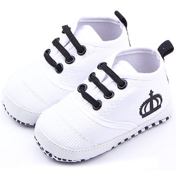 Infant Toddler Baby Boys Girls Soft Sole Crib Shoes Sneaker Prewalker 0-12Months PY1