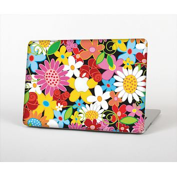 The Vibrant vector Flower Petals Skin Set for the Apple MacBook Pro 13""
