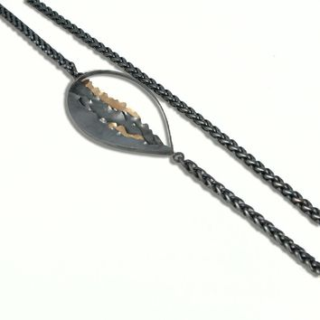 Beauty & Beach Waves Large Silver and Gold Necklace