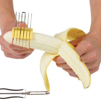 Easy Banana Slicer- Great for Baby Food Plus **FREE** Stainless Steel Swivel Peeler by Tablesto TM:Amazon:Kitchen & Dining