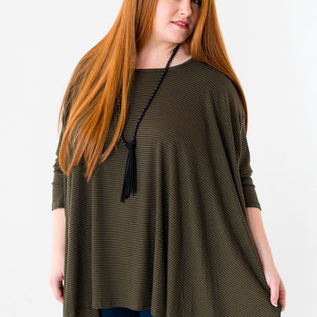 Hold Me Close Plus Size Top in Green