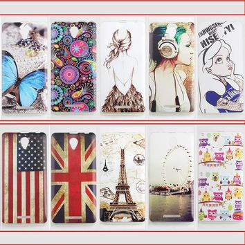 Mobile Phone Back Cases for Lenovo A5000 A1000 A328 A536 Ultra Thin Soft TPU Design Color Painted Phone Accessories Protector