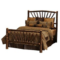 Hickory Sunburst Bed - Double