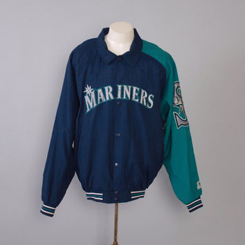 Vintage 90s MARINERS JACKET / 1990s Seattle Baseball Starter Jacket L - XL
