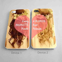 BBFF Case Every Brunette Needs A Blonde Best Friends Couples Phone Cases for iPhone Case