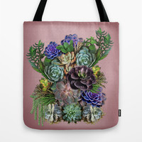 Succulent gardens Tote Bag by Just Kidding