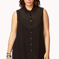 Striking Studded Chiffon Shirt