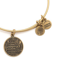 Alex and Ani Positive Is How I Live Foundation Expandable Wire Bangle Rafaelian Gold