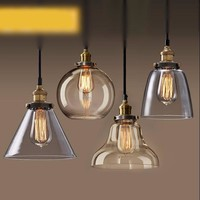 Copper Color Glass Pendant Lights