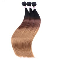 Three Tone Straight Synthetic Hair Extensions