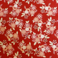 Cotton fabric,Quilt, Home Decor, Craft, Raspberry Parlour on Red, Riley Blake, Fast Shipping