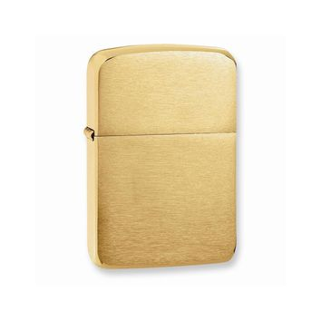 Zippo 1941 Replica Brushed Brass Lighter - Engravable Personalized Gift Item