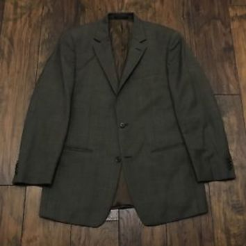 Michael Kors Macy's Store Brown Wool 2-Button Suit Jacket Sports Coat Mens 40R