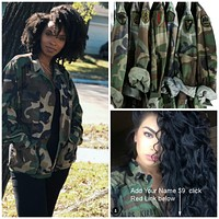 Vintage CAMO Jacket Military Authentic Army Reclaimed Jackets All Sizes