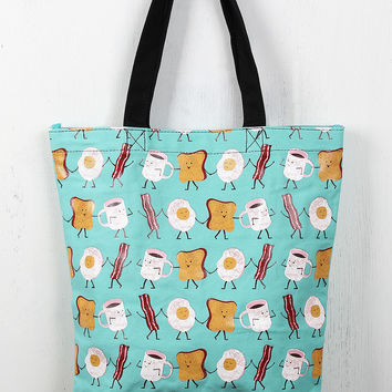 Breakfast Buddies Tote Bag
