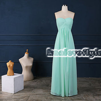 simple long floor length mint bridesmaid dresses sweetheart,junior bridesmaid dresses,bridal party dress,simple long beach bridesmaid dress