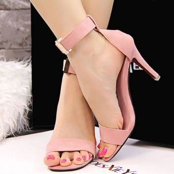 Fashion Pointed open Toe Platform Sexy High Heels Shoes Women Shoes Stiletto Sandals 8cm Heel