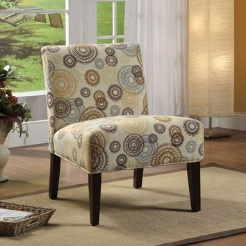 Aberly Accent Chair With Printed Fabric