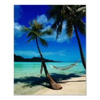 Hammock Hanging Seaside Posters from Zazzle.com