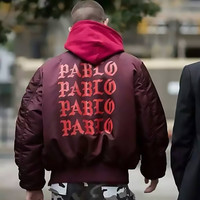 Men's Yeezus I Feel Like Paul Pablo Kanye West The Life Of Pablo MA1 Bomber Thick Warm Bombers Coats Jacket