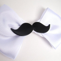Mustache Bow Hair Accessory