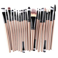 Makeup Brushes 20Pcs Set Gold Cosmetic knit