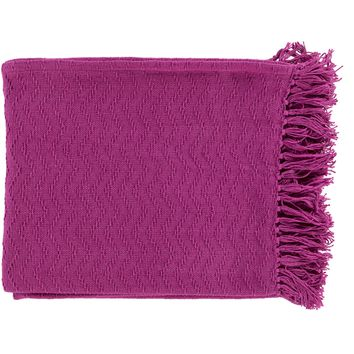 Gayley Woven Throw BRIGHT PINK - CLEARANCE