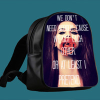 Lana Del Rey Quote for Backpack / Custom Bag / School Bag / Children Bag / Custom School Bag *