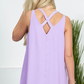 Soft Spring Strappy Top | Pale Purple