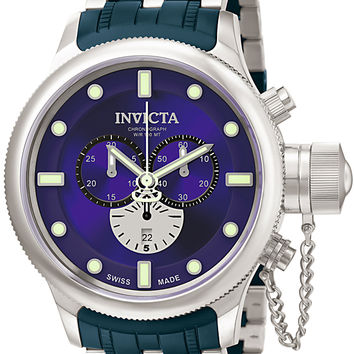 Invicta Men's Russian Diver Chronograph Stainless Steel Blue Polyurethane 5935