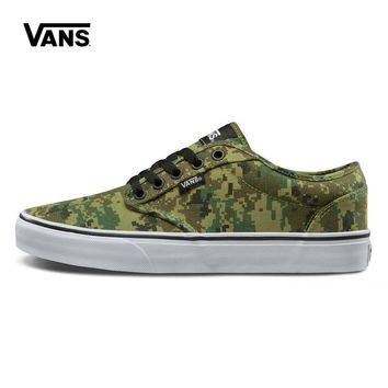 Original New Arrival Vans Men's Active Atwood Low-top Camouflage Skateboarding Shoes Sport Outdoor Sneakers Canvas VN-0XB0FDA