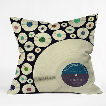Belle13 Evergreen Music Throw Pillow