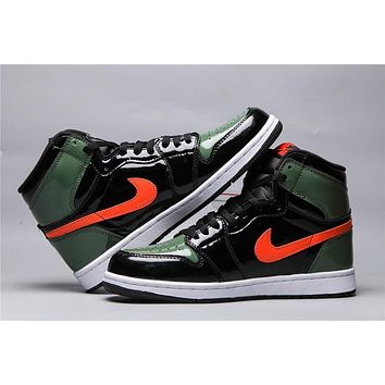 Air Jordan 1 Retro Black/green/orange | Best Online Sale