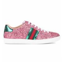 Gucci Women Fashion Shining Sequins Casual Sneakers Sport Shoes Pink